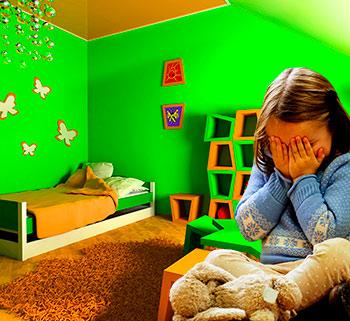 Обустройство детской без ярких цветов